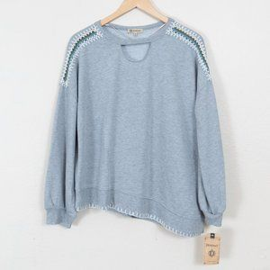 NWT Democracy Sweatshirt w/Hand-Stitching Sz M